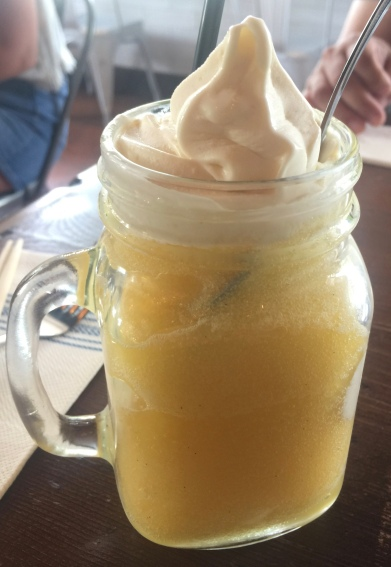 Orange and Cream Soft Serve Slushy Float $8.50